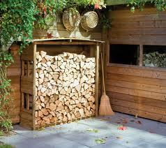 Ogrodowy składzik na drewno
