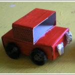 Jak zrobić samochód z pudełka od zapałek?